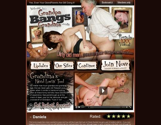 Grandpa Bangs Grandma