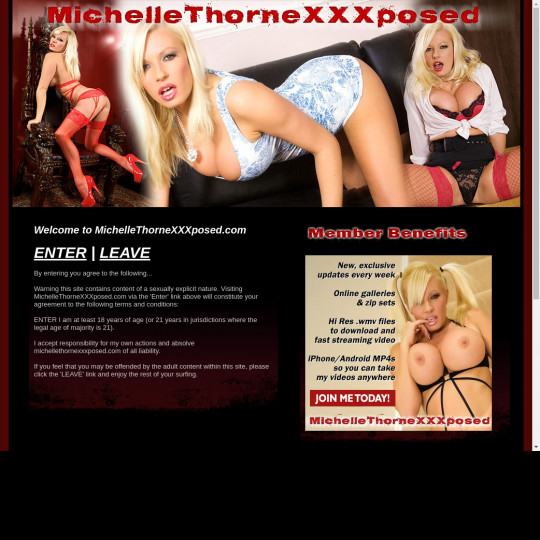 Michelle Thorne XXX Posed